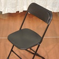 Chair - Black - Molded Plastic Back & Seat w/ Metal Frame