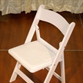 "Chair - White - Resin Back & Frame w/ 1/4"" Padded Seat"